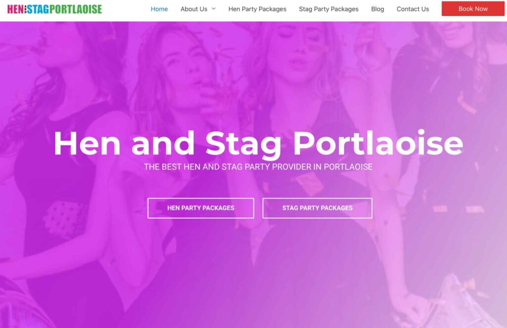 hen and Stag Portlaoise website